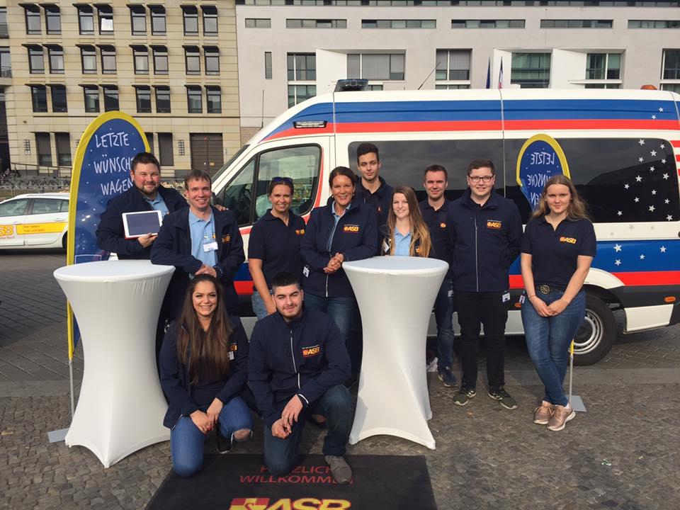 WüWa-Team in Berlin Sternfahrt Oktober 2018